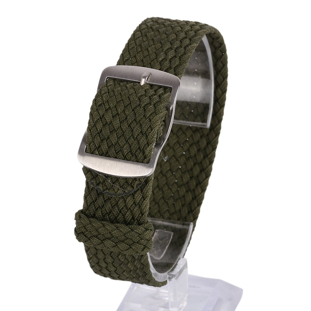 Bornbayb Premium Nylon Nato Watch Straps Braided Nylon Band for Men Women (Width: 16mm, 18mm, 20mm, 22mm)