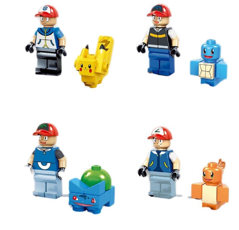 amazon com oscarnotis 4 part pokemon building block sets