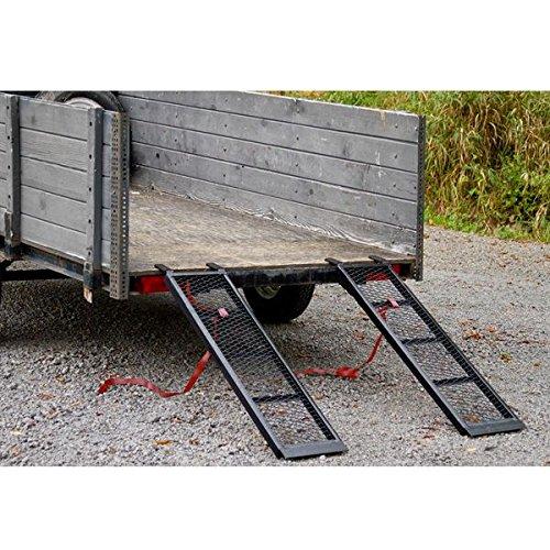 Rage Powersports ST-4811-1600-M-V2 Steel ATV Trailer Ramp 48.5 Black, Pair
