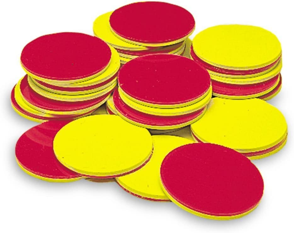 Learning Resources Two-Color Counters, Red/Yellow, Educational Counting, Sorting, Patterning, and Probability Activities, Set of 200, Grades K+, Ages 5+ : Childrens Mathematics Learning Aids : Office Products