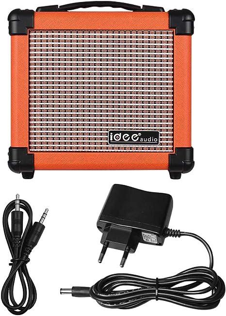 Muslady - Amplificador de altavoz para guitarra eléctrica portátil ...
