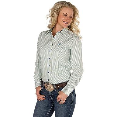 45c551bd Cinch Women's Blue Stripe Button Down Long Sleeve Western Shirt at Amazon  Women's Clothing store: