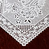 Home-X Square Lace Look Plastic Coasters - Set of 4