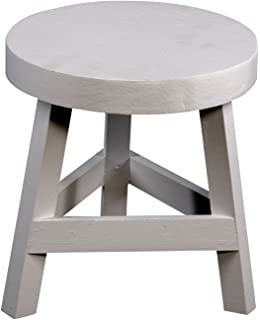 Geko White Three Legged Stool Standing At 23 Cm High