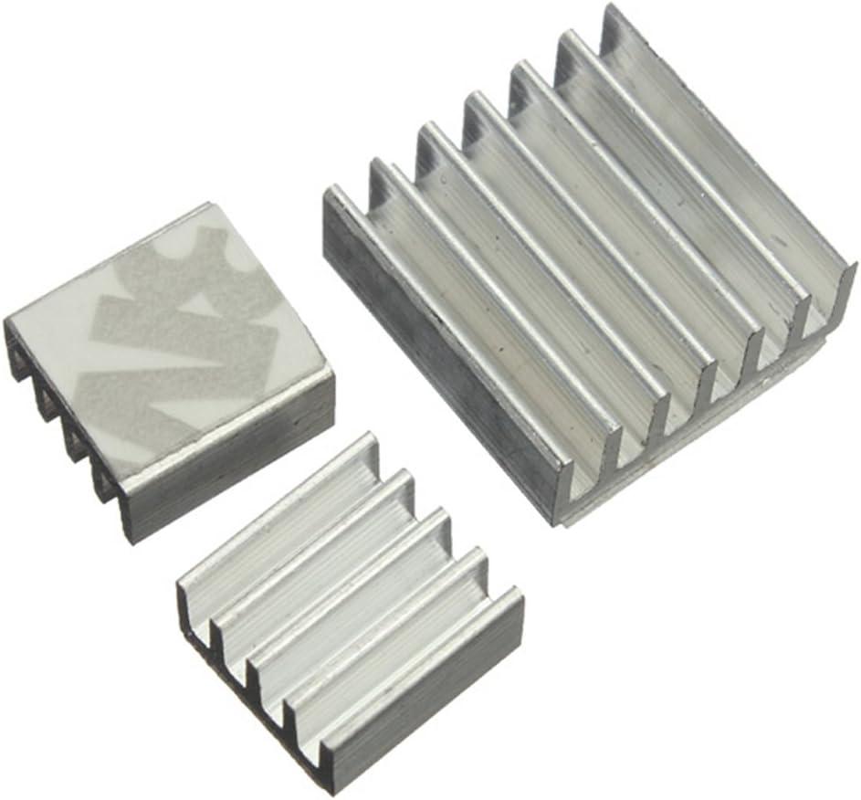 DAOKI 15 PCS One Set Aluminum Heatsink Cooler Adhesive Kit Sink for Cooling Raspberry Pi