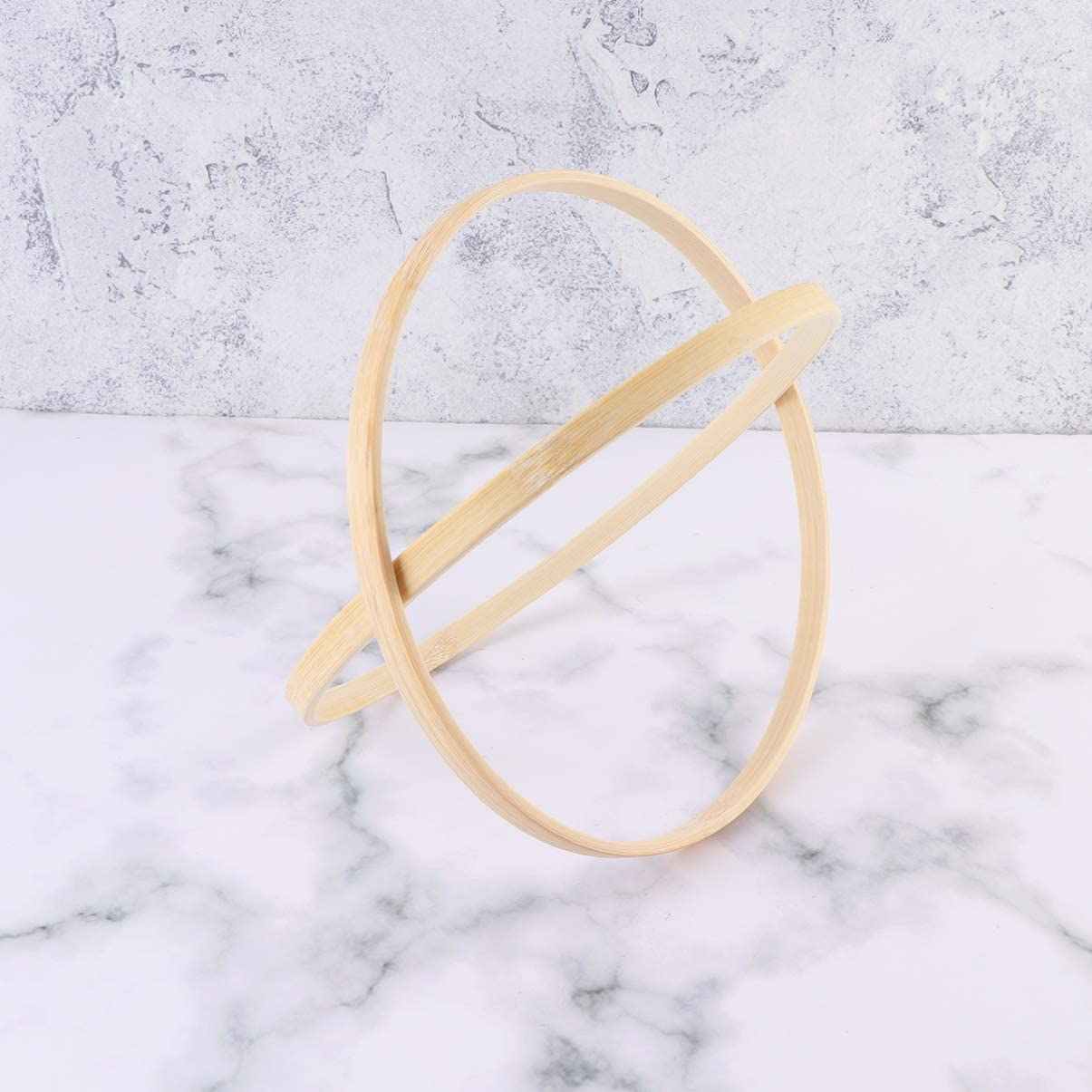 HEALLILY Dream Catcher Ring Bamboo Hoops Wooden Ring Circles for DIY Craft Dream Catcher Making Accessaries 19cm 2Pcs