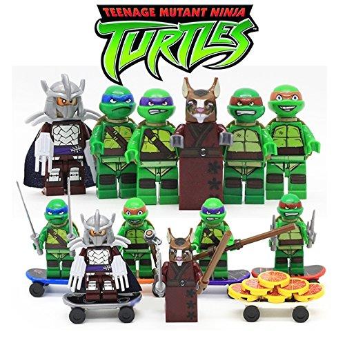 Set 6pcs minifigura Tortugas Ninja - Donatello, Raphaello ...