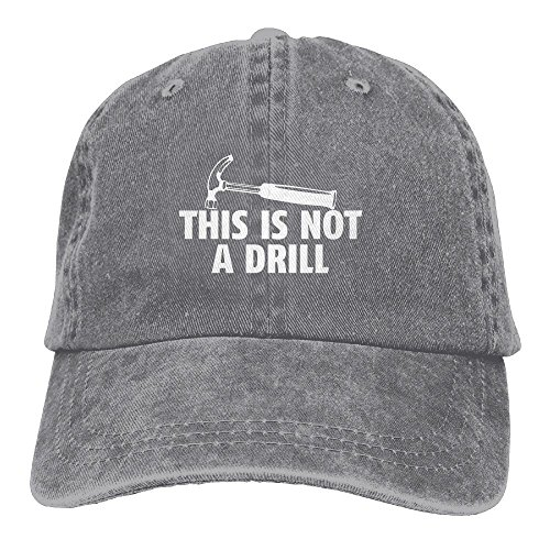 This is Not A Drill Plain Adjustable Cowboy Cap Denim Hat for Women and ()