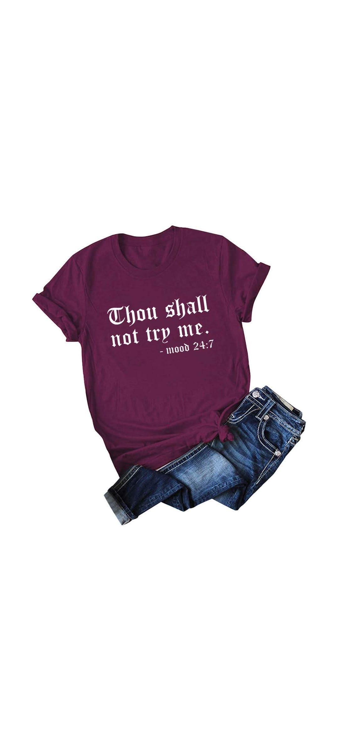 Plus Size Shirt For Women Fashion Casual O-neck Tee