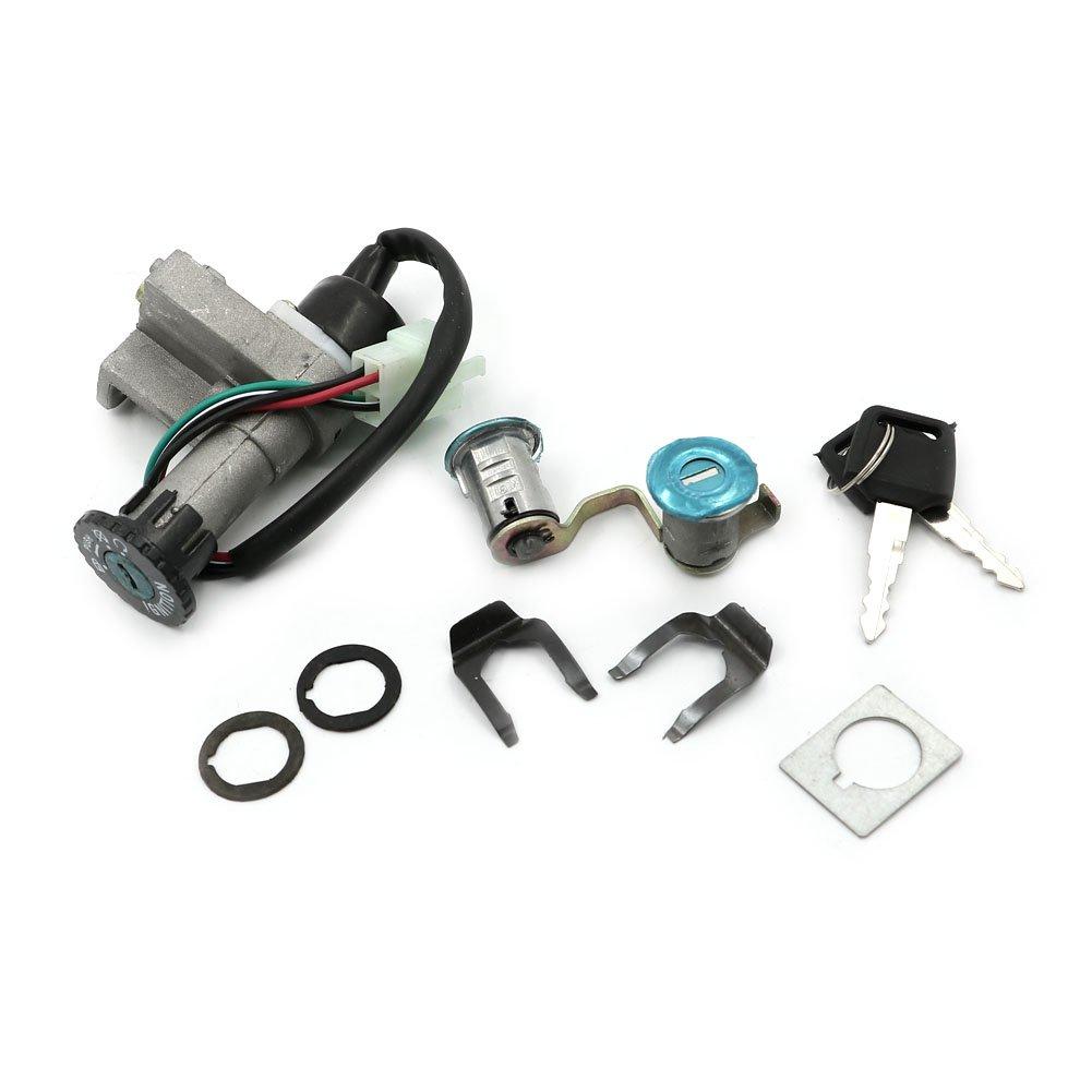Alpha Rider Ignition Switch Lock Seat lock Keys Set For Moped 50 125 150 GY6 Scooter Dazon Diamondback | Hammerhead / Adly Jet 50 Fox 50 | Lance GTR 50 | Jonway Beta 50 | QT-6 Scooter