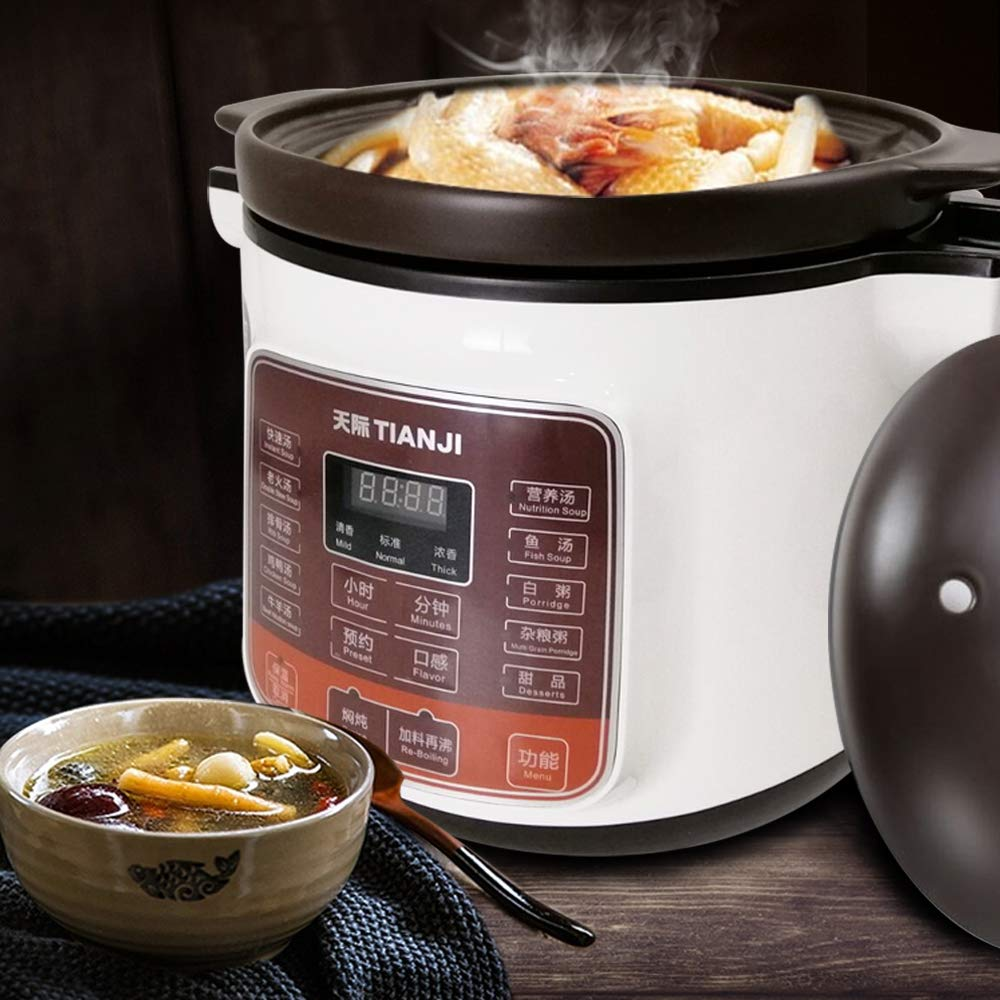 Ceramic Stew Inner Pot for Gas 4 L,600W Tianji Electric Stew Pot DGD40-40LD Slow Cooker