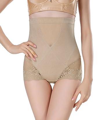 6531ac6f53 Smile YKK Apricot Lace Best Waist Cincher Girdle Belly Corset Body Shapewear  L  Amazon.co.uk  Clothing