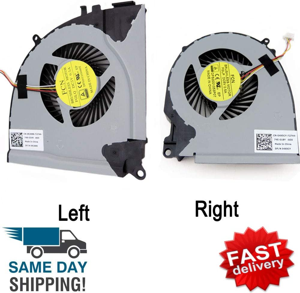 Original Laptop CPU+GPU Cooling Fan for New CPU Fan for DELL INSPIRON 15-7557 15-7559 5577 5576 15 7000 7557 7559 15-7000 15-7557 15-7559 04X5CY FGLP