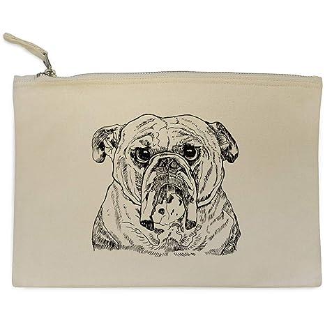 Azeeda Cara de Bulldog Bolso de Embrague / Accesorios Case (CL00005891)