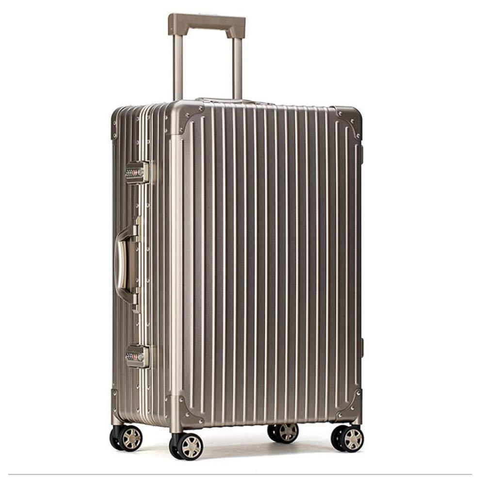 スーツケーストロリー手持ちのキャビン荷物ハードシェルトラベルバッグ軽量4スピナーホイール 38*23*46cm B07TCGXKLJ Champagne gold