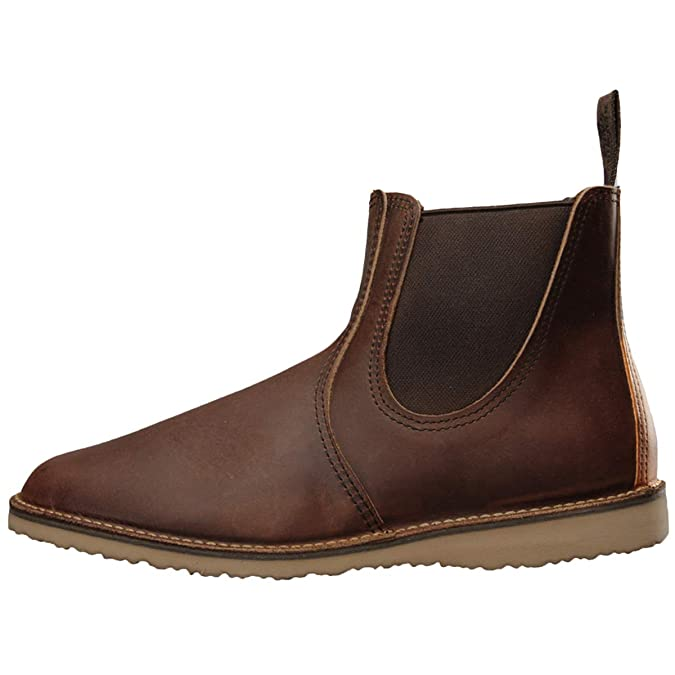 Red Wing Weekender Chelsea 03311-0D Leather Mens Boots - Copper - 43: Amazon.es: Zapatos y complementos