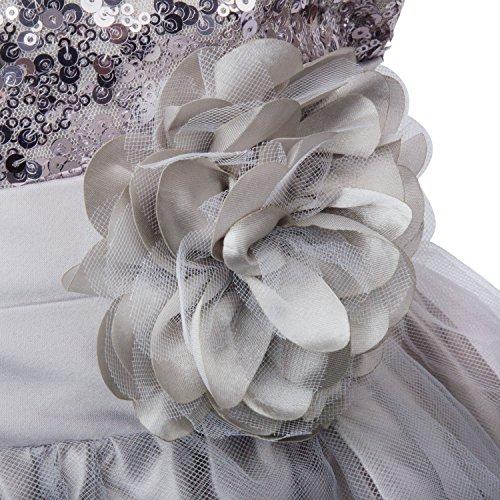 Flower Girl Dress, Acecharming Girls Sequin Mesh Flower Party Wedding Ball Gown Bridesmaid Tulle Ruffle Prom Dress for 2-10 Girls