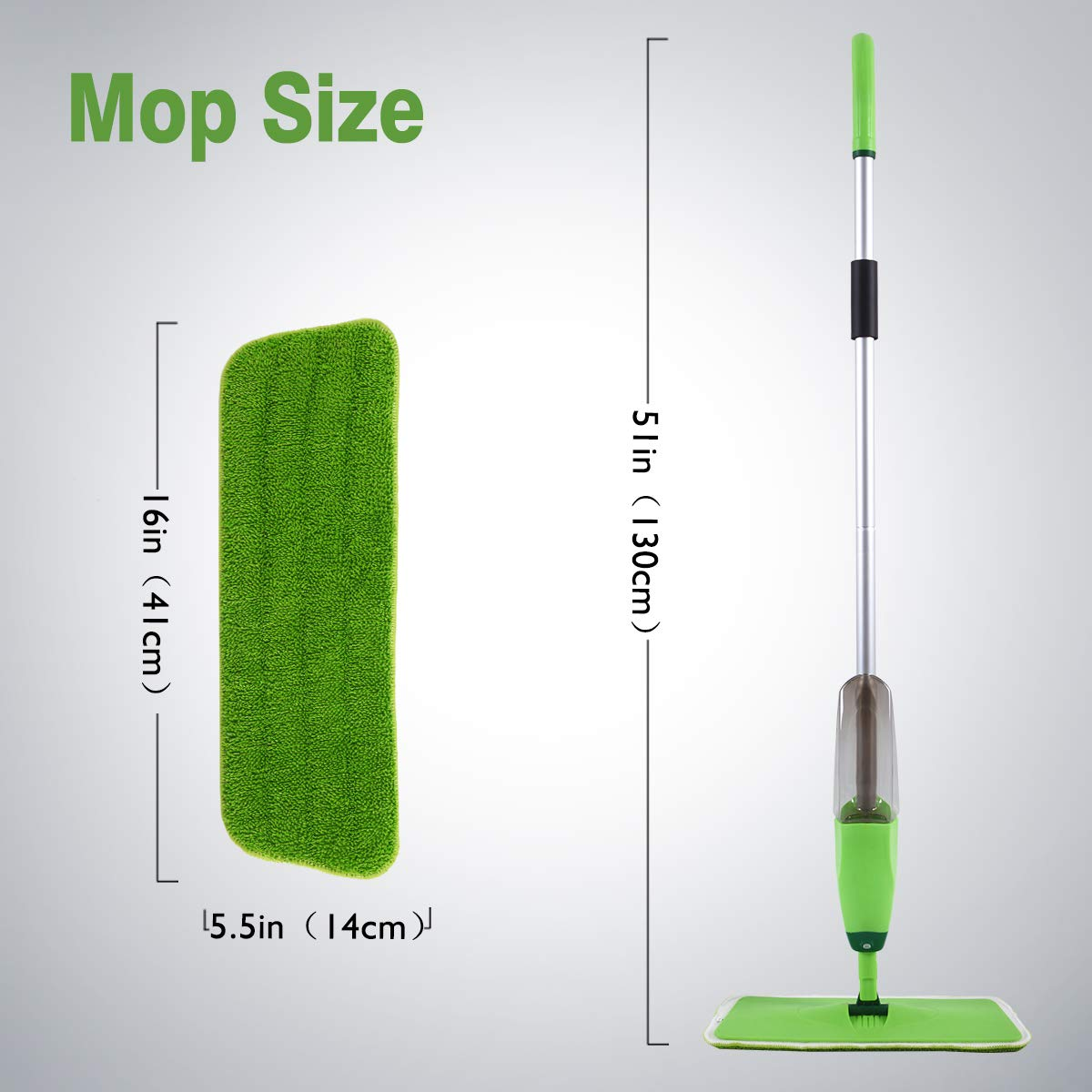 Laminate 2 pcs Reusable Microfibre Pads 180 Degree Rotating Easy to Clean for Hardwood Floor MAYSHINE Spray Mop Floor Mops Tile MSUS19010402 Wood