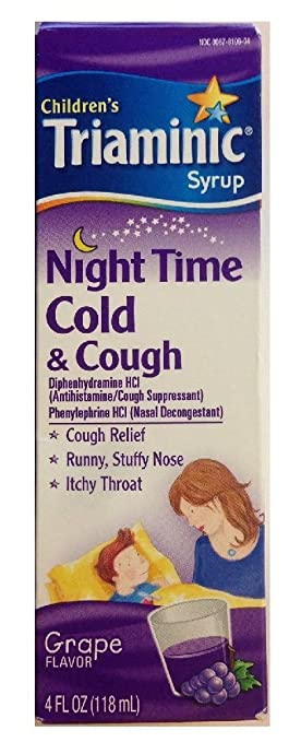 Amazoncom Childrens Triaminic Syrup Night Time Cold Cough