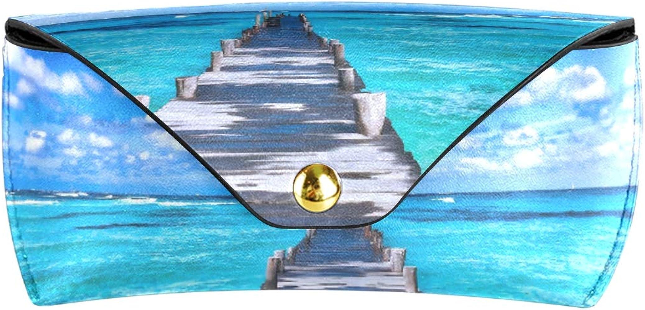 LENNEL Caja de gafas de sol Playa moderna Hermoso puente Unisex ...