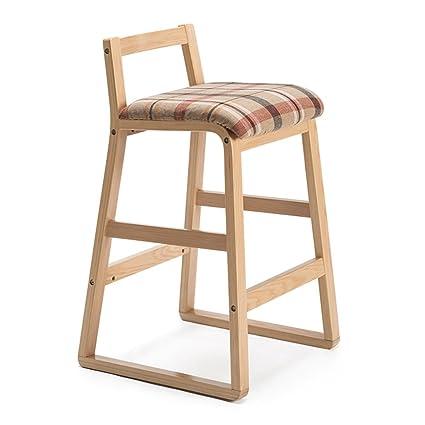 Qiangzi Sedie in legno moderne Retro sgabelli da bar Sgabelli in ...
