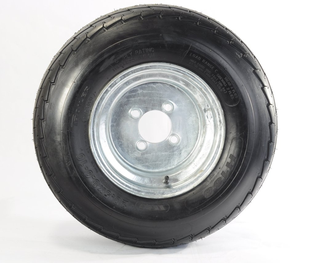 Two Equipment Utility Trailer Tire & Rim 20.5X8-10 205/65-10 20.5/8-10 10'' 4Lug