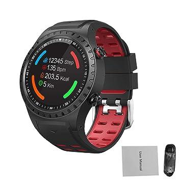 iBasteFR Montre numérique pour Homme Montre Intelligente Bluetooth SMA-M1 GPS Sports de Plein air