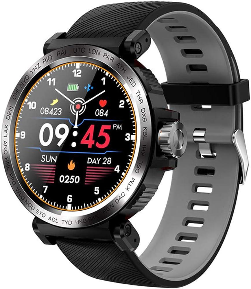 Sport IP68 Impermeable Pantalla de Reloj Inteligente Reloj táctil para Hombres Monitor de Ritmo cardíaco Reloj Inteligente Rastreador de Ejercicios Pulsera