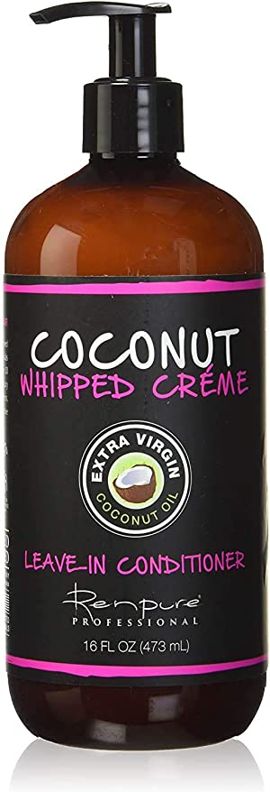 RENPURE Coconut Whipped Creme Leave-In Conditioner, Basic Fragrance 16 Fl Oz