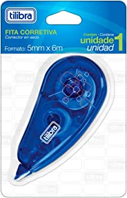 Corretivo em Fita, Tilibra, Azul, 5mmx6m