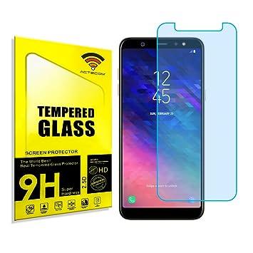 ACTECOM Protector DE Pantalla para Samsung Galaxy A6 Plus 2018 Cristal Templado: Amazon.es: Electrónica