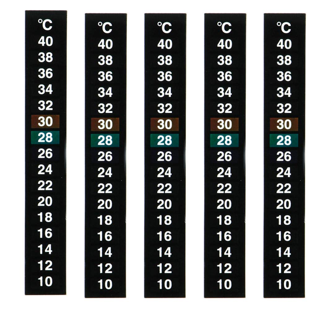 Mome ʕ •ᴥ•ʔ Temperature Sticker ʕ •ᴥ•ʔ 1PC Digital Aquarium Fish Tank Thermometer Temperature Sticker Dual Scale Aquarium Accessories -Digital Dual Scale Stick on Durable (A)
