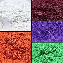 WellieSTR 150g 5 Color DIY Mineral Mica Powder Soap Dye Glittering Soap Colorant Pearl Powder (30g per color)
