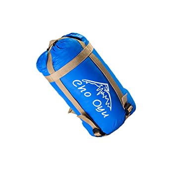 Cho Oyu Mini saco de dormir ultraligero con diseño de sobre, suave y cómodo en