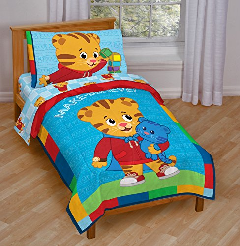 Daniel Tiger Bedding (Blue Toddler Bed) (Tiger Toddler)