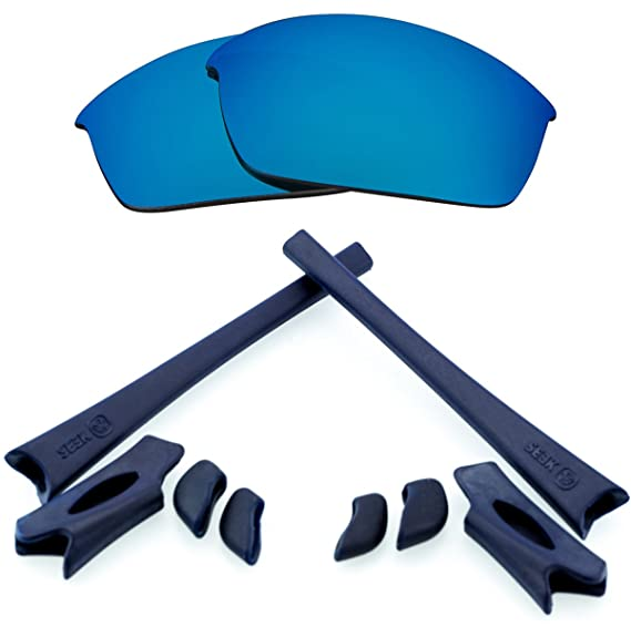 88566ffc6f Best SEEK Polarized Lenses   Rubber Kit for Oakley FLAK JACKET Blue   Navy   Amazon.in  Clothing   Accessories