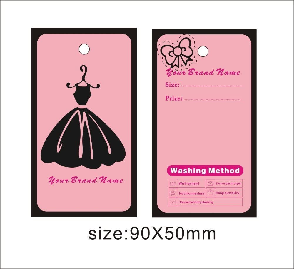 Amazon Com Custom Print Hang Tags Lady Clothes Hang Tags Free Design For You Diy Your Logo On It Famous Design Template