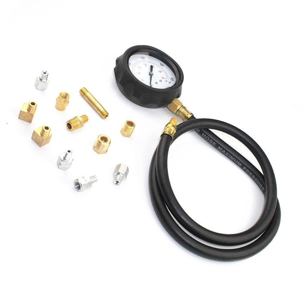 14 piece Engine Oil Pressure Tester Test Gauge Diagnostic Test Tool Set Kit by Jecr (Image #9)