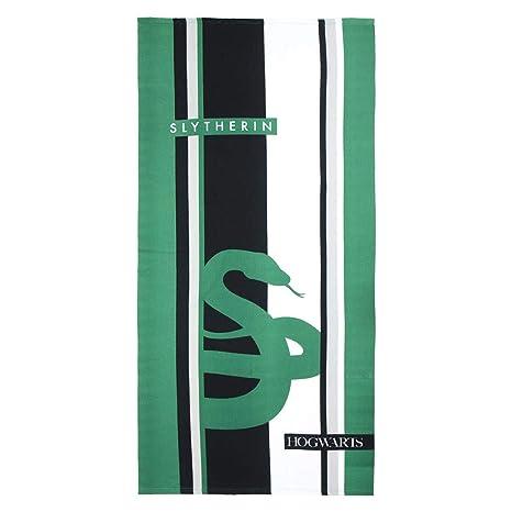Cerdá 2200003872 Toalla Polyester Harry Potter Slytherin Verde 70x140cm