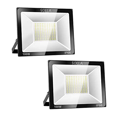 2 Pack SOLLA 100W LED Flood Light