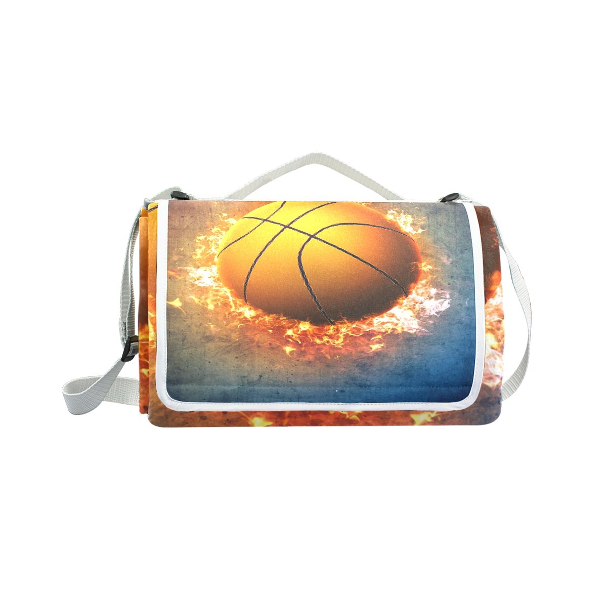 My Little Nest Outdoor Camping Picnic Beach Blanket Mat Basketball Lightweight Portable Folding Travel Pad 57'' x 59'' by My Little Nest