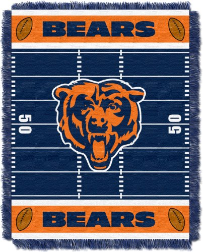The Northwest Company Officially Licensed NFL Chicago Bears Field Bear Woven Jacquard Baby Throw Blanket, 36