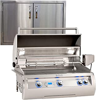 "product image for Fire Magic Echelon Diamond E790i 36"" Propane Grill w/Digital Thermometer and Made in USA 36"" Best of Backyard Double Door"