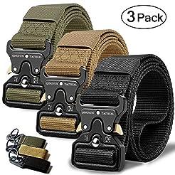 QINGYUN RONGQI 3Pack Tactical Belt,Milit...