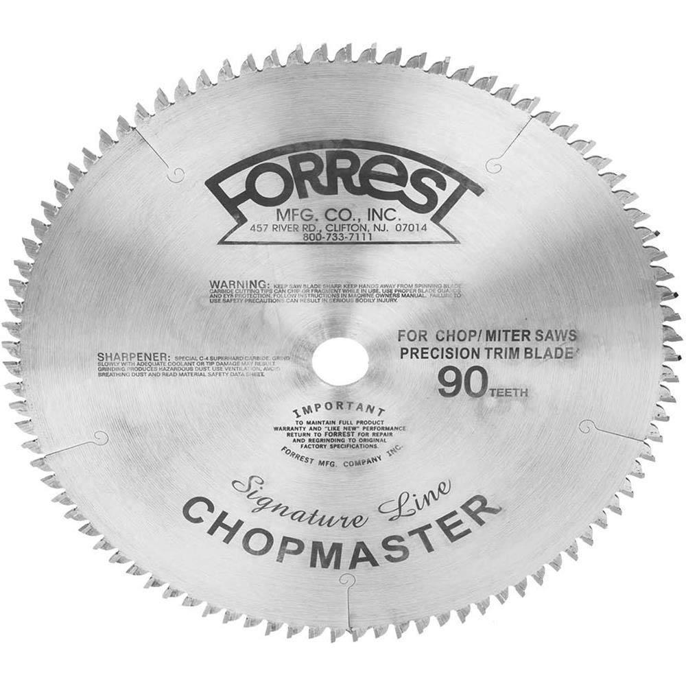Forrest CM12905115 Chopmaster Signature Line - Diameter (D) = 12-Inch, Teeth (T) = 90, Kerf (K) = 7/64-Inch, Arbor (A) = 1-Inch, Tooth Style = 2 PTS+1 Flat by Forrest