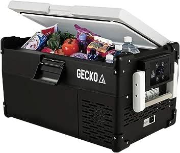 GECKO 25L Portable Fridge Freezer Cooler 12V/24V/240V for 4WD Camping Boating, Black