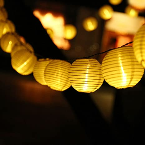 lederTEK 6m 30 LED Luces de Navidad con Iluminacion Solar con Diseño ...