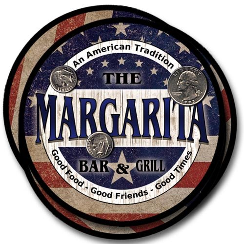 Margarita Family American Bar and Grill Neoprene Drink Coasters