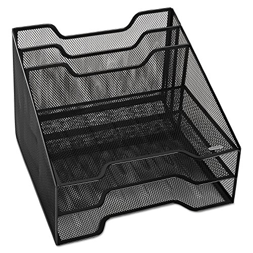 Rolodex Mesh Combo Tray - Black (ROL1742322) (Eldon Black Mesh)