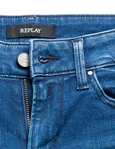 Ajustados blue 9 Replay Para Jeans Azul Mujer Luz Denim wSqFAB
